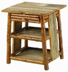 Old Hickory Retreat Bedside Table