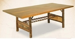 "Old Hickory 120"" Woodland Trestle Table"