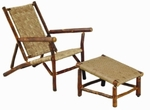Old Hickory Sun River Deck Chair and Ottoman