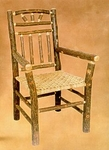 Old Hickory Wagon Wheel Arm Chair