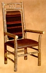 Old Hickory Wagon Wheel High Back Arm Chair