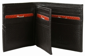 BC-27 Trend New York Bari Collection Genuine Leather Dress Wallet - Brown