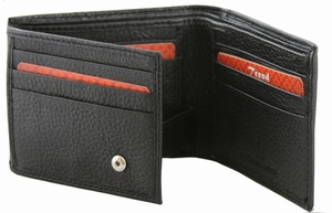 BC-57 Trend New York Bari Collection Genuine Leather Dress Wallet - Black