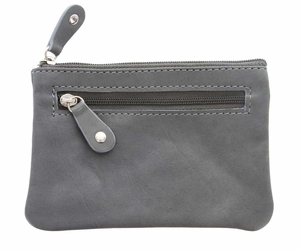 Genuine Leather Coin Purse Deep Gray