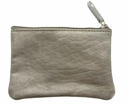 Genuine Leather Coin Purse Medium Gray