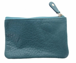 Genuine Leather Coin Purse Turquoise