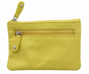 Genuine Leather Coin Purse Yellow