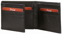 KC-05 Trend New York Kiev Collection Genuine Leather Dress Wallet - Brown