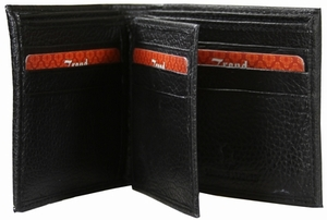 KC-27 Trend New York Kiev Collection Genuine Leather Dress Wallet - Black