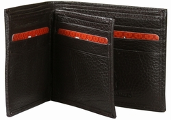 KC-27 Trend New York Kiev Collection Genuine Leather Dress Wallet - Brown