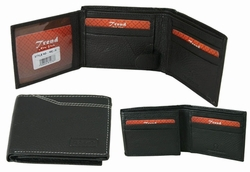 MC-05 Trend New York Manlo Collection Genuine Leather Dress Wallet-Black