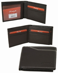 MC-27 Trend New York Manlo Collection Genuine Leather Dress Wallet-Dark Brown