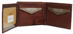 N-57 Trend New York Niza Collection Genuine Leather Dress Wallet - Brown