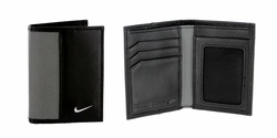Nike Golf Sport Men's Leather Tech Twill Card Case With Clip Grey