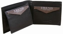 Trend New York Lobo Collectino Genuine Leather Dress/Casual Wallet - Black