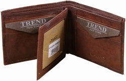 Trend New York Lobo Collection Genuine Leather Dress/Casual Wallet - Brown