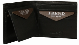 YB-3082 A Trend New York Apolo Collection Genuine Leather Casual/Dress Wallet - Black