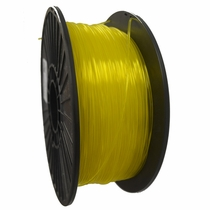 Crystal Series PLA - 3D Filament - 1.75mm - Translucent Yellow - 1KG