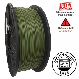 Raptor Series PLA - High Performance 3D Filament - In the Army Now- Green  -   1.75mm  -  1KG
