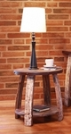 Antique Barrel End Table