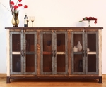 Antique Multicolor 6-Door Console