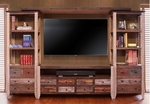 Antique Multicolor Entertainment Center