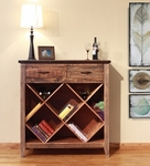 Antique Multicolored Bookcase/Wine Cabinet