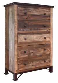 Antique Multicolored Chest