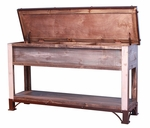 Antique Trunk Storage Sofa Table