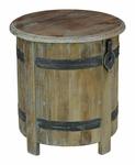 Anya Barrel Storage End Table