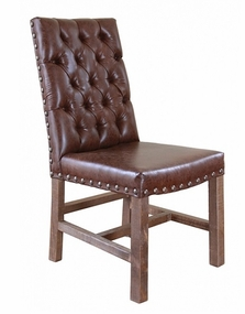 Artisan Faux Leather Upholstered Chair