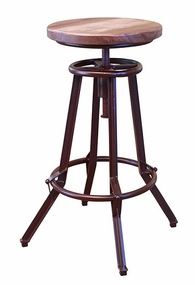 Artisan Multi-color Adjustable Swivel Stool