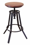 Artisan Parota Adjustable Swivel Stool 2