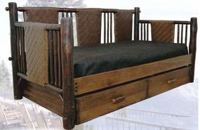 Blue Mountain Lake Vintage Day Bed