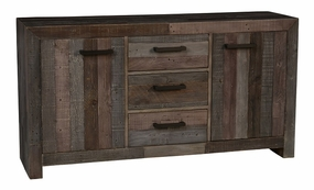 Classic Home Omni Three-Drawer, Two-Door Buffet