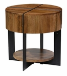 Classic Home Rustic Desmond Round End Table