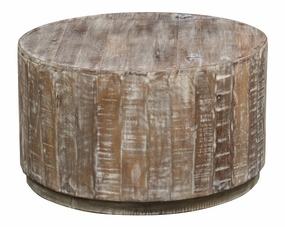Classic Home Rustic Laurel Round Coffee Table