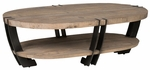 Classic Home Rustic Marcelo Oval Coffee Table