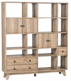 Classic Home Rustic Sorrento Large Wall Unit