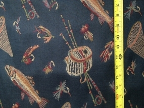 Fishing Blue Fabric (Limited Supply)