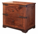 Parota 2-Drawer Nightstand