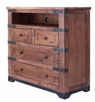 Parota 4-Drawer Media Chest