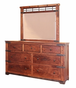 Parota 7 Drawer Dresser