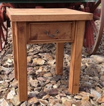 Rustic Alder 1-Drawer Bedside Table