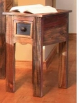 Rustic Antique Chair Side Table