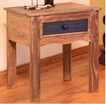 Rustic Antique End Table