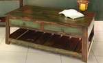 Rustic Antique Multicolor Cocktail Table