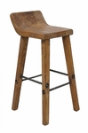 Rustic Arturo Low Back Counter Stool