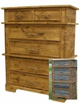 Rustic Barnwood/Alder 2 over 4 Drawer Chest