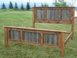 Rustic Barnwood/Alder Panel Bed
